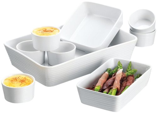 Home Essentials 9-pc Bakeware Set, White