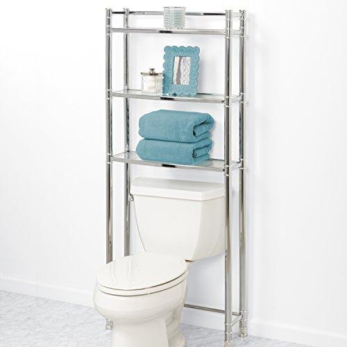 Zenna Home 9035SS, 3-Tier Over-The-Toliet Bathroom