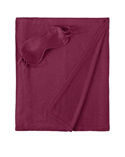 A&R Cashmere Women's Cashmere and Wool Travel Set, Raspberry