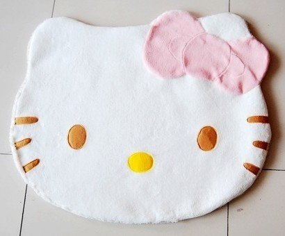 Large Adorable Hello Kitty Girl Soft Cushion Mat Bedroom Rug 27.56''x 23.62''
