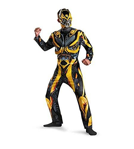 Deluxe Transformers Bumblebee Costume & Mask Adult Men Size 2XL 44/46 - Disguise