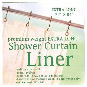 Amazon.com: Extra Long Heavy Gauge Vinyl Shower Curtain Liner ...