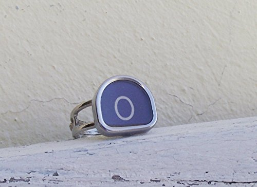 anello-tasto-macchina-per-scrivere-vintage-lettera-o-royal-quiet-de-luxe