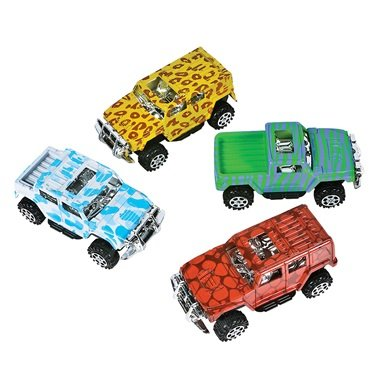 Pullback Rescue Car Set (4 Piece Set) Pull Back and Go - 1