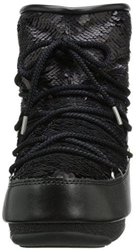 pictures of Tecnica Women's Moon We Low Paillettes Winter Fashion Boot, Black, 39 EU/8 M US