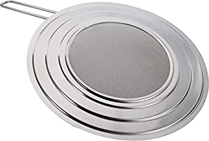 Splatter Screen Guard Stainless Steel Perfect Cooking Grease Mess Eliminator for Frying Crisp Bacon