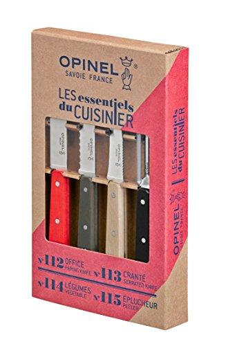 Opinel 001626 Loft Coffret Essentiels de 3 Couteaux + Eplucheur 21,5 x 13,3 x 2,5 cm