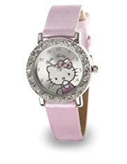 Hello Kitty Diamanté Analogue Watch