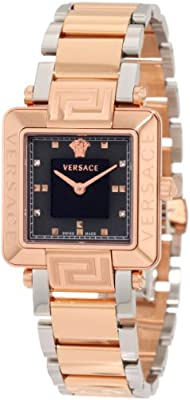 Versace Women's 88Q80SD008 S089 Reve Carrè Rose-Gold Plated Watch