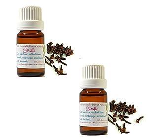 Lot de 2 : Huile Essentielle HEBBD de CLOUS DE GIROFLE 10ml (Eugenia caryophyllus)