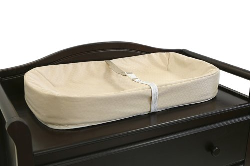 L A Baby Organic Elastic Fitted Crib Mattress Cover, Ecru