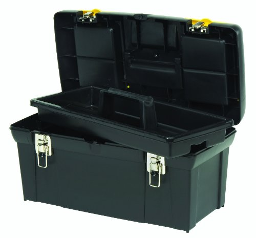 Stanley 024013S 2000 Series Tool Box with Tray, Black