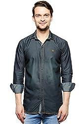 F by Fasnoya Men's Slim Fit Denim Shirt
