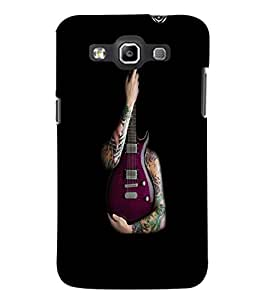 PrintDhaba Guitar D-5531 Back Case Cover for SAMSUNG GALAXY WIN i8552 (Multi-Coloured)