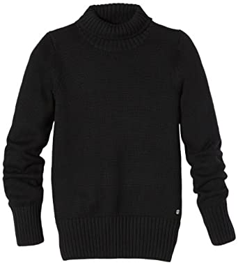 ESPRIT Pull-over Col roulé Manches longues Fille - Noir - Schwarz (001 black) - FR : 8 ans (Taille fabricant : 128/134)