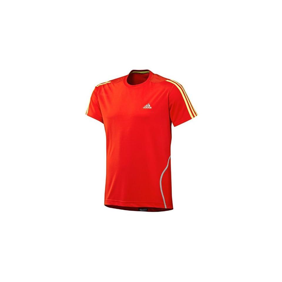 adidas Performance Response Mens Running T Shirt Top   Orange   XS