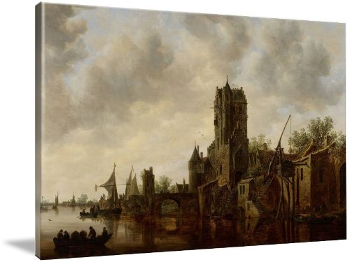 River Landscape With The Pellecussen Gate Near Utr (Giclee Art Print), The Fine Art Masters front-1019450