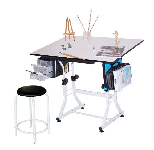 CNV Craft/Hobby/Drawing Table with Padded Stool