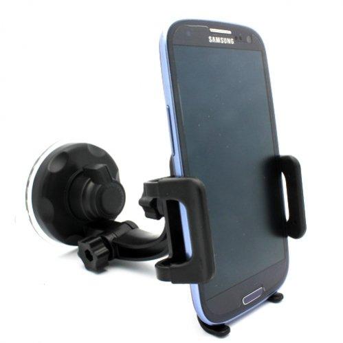 Selna Windshield Car Mount Window Glass Phone Holder Swivel Cradle Dock for Verizon Samsung GALAXY S4 Mini - Verizon Samsung Galaxy Stellar - Verizon Samsung Galaxy Stratosphere II SCH-I415 - Verizon Samsung Illusion