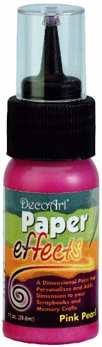 Paper Effects Paint 1oz Squeeze Bottle-Pink Pearl