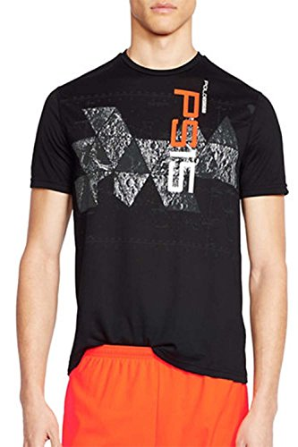 Polo Sport Men's Graphic ThermoVent Active T-Shirt (Small, Polo Black)