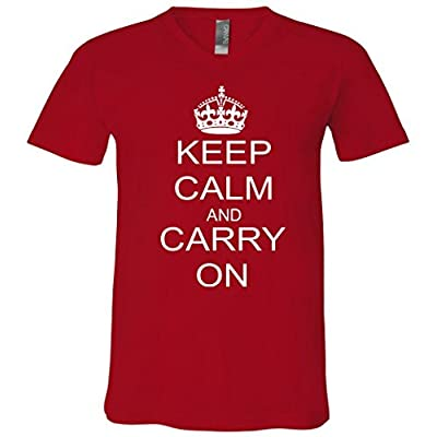 Keep Calm and Carry on Vintage World Peace Retro V-Neck T-Shirt