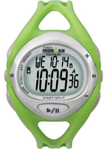 Timex Unisex T5K058 Green Ironman Sleek iControl Resin Strap Watch