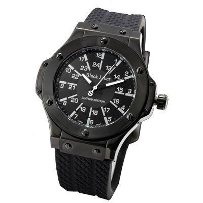 [BlackJoker]腕時計100mダイバーALLブラックCrysisAvoidCoreシリコンブラックダイヤモンドメンズ時計