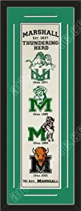 Heritage Banner Of Marshall Thundering Herd With Team Color Double Matting-Framed... by Art and More, Davenport, IA