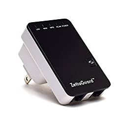 Zettaguard Wireless-N 300Mbps Multi-Functional Wired / Wireless Wi-Fi Travel Mini Router (10091)