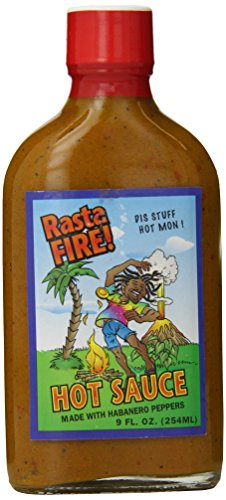 Rasta Fire Hot Sauce, 9 Ounce