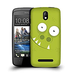 MobileGlaze Designs Pearl Teeth Monster Nose Pipe Hard Back Case Cover for HTC DESIRE 500