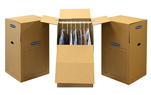 Bankers Box SmoothMove Wardrobe and Moving Boxes, 24