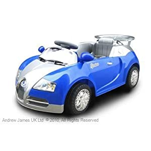 Andrew James Ride on Electric Sports Car in Blue with Remote Control