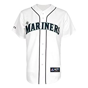 MLB Seattle Mariners Youth Dustin Ackley 13 Replica Jersey, White by Majestic