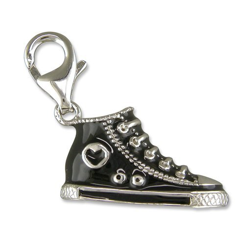Welded Bliss Sterling 925 Silver Baseball Boot Sneaker Charm, Clip Fit WBC1031