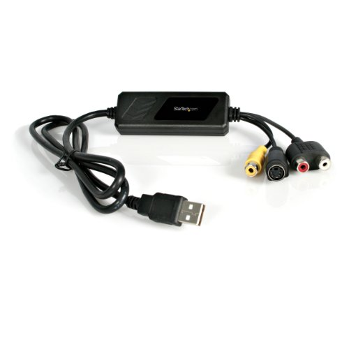 StarTech SVID2USB2 USB S-Video and Composite Video Capture Cable with Audio TV Tuners and Video Capture