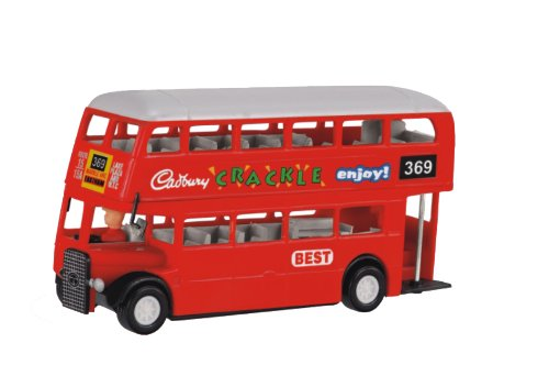 Shinsei Toys Red Deluxe Double Decker Bus