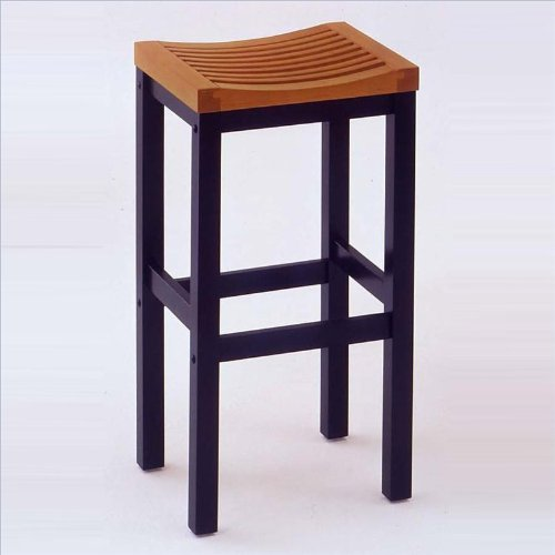 Home Style 5635-88 Black and Cottage Oak Finish Bar Stool, 24-Inch
