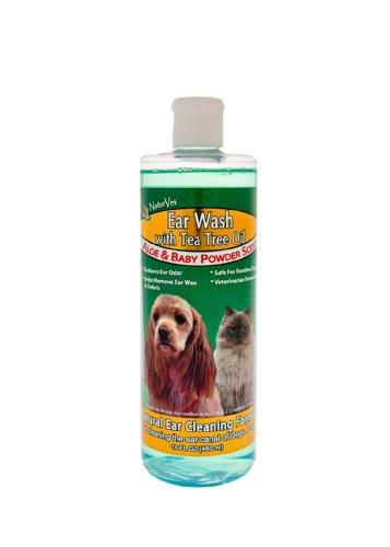 NaturVet Ear Wash with Tea Tree Oil, 16 Ounce