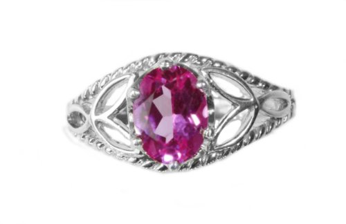 October Birthstone Ring - made in U.S.A. by Jewelry Designer - Max Arwood synthetic stone