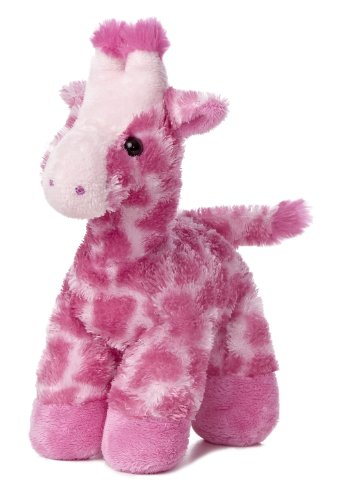 "Gigi Giraffe Fuschia Mini Flopsie 8"" - Stuffed Animal by Aurora Plush (31349) - 1"