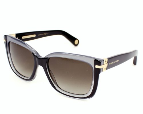 Marc Jacobs Mj507/S Sunglasses-00Ml Black Gray (Ha Brown Gradient Lens)-55Mm