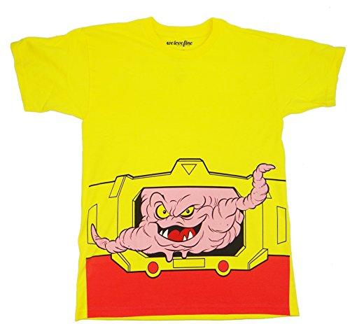 Teenage Mutant Ninja Turtles Krang Costume T-shirt (Large,Yellow) (Yellow Ninja Turtle Shirt compare prices)