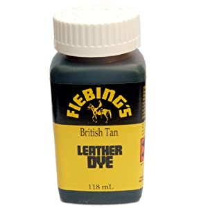 fiebings leather dye 4oz 118ml british tan car motorbike. Black Bedroom Furniture Sets. Home Design Ideas