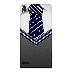 Impressive Grey Uniform Back Case Cover for Ascend P6