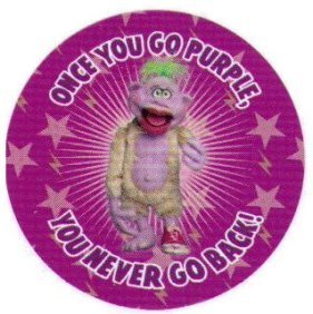 Jeff Dunham Once You Go Purple You Never Go Back Button JB3975 - 1