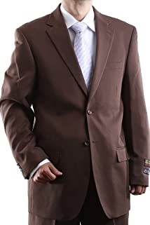 Men's Single Breasted Two Button Cocoa Dress Suit