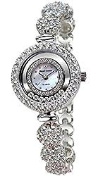 Royal Crown Rh65308b21 Luxury Jewelry Quartz Wrist Watch Mother of Pearl Dial Silver Bracelet Strap