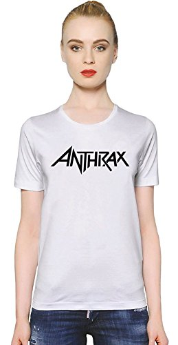 Anthrax Logo T-shirt donna Women T-Shirt Girl Ladies Stylish Fashion Fit Custom Apparel By Genuine Fan Merchandise Small
